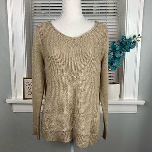 Chicos Gold Tan Knit Sweater